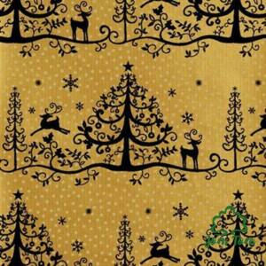 Csomagolópapír, 5 m - Karácsony barna