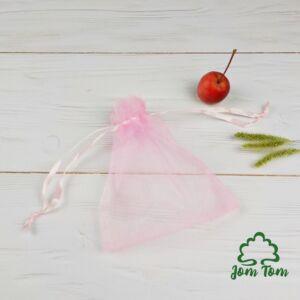Organza tasak rózsaszín – 1 db