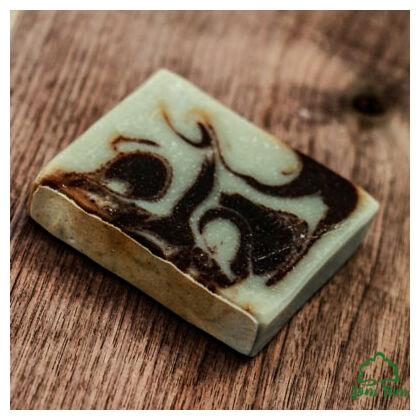 Kakaóvajas fahéjszappan zöld agyaggal - Borza Manufaktúra