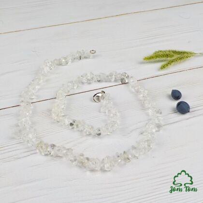 Hegyikristály féldrágakő szemcselánc 50 cm
