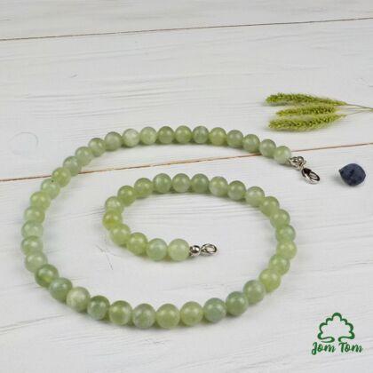 Jade 8 mm-es féldrágakő lánc