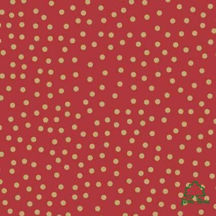 Csomagolópapír, 5 m - Vörös pöttyös   JomTom